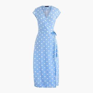 NWT J. Crew Polka Dot Wrap Dress